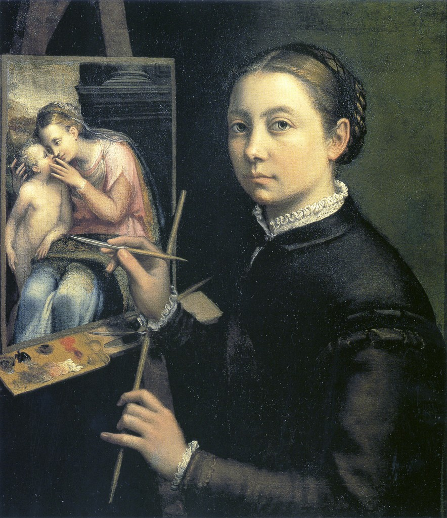 Autorretrato de Sofonisba Aguisola de joven.