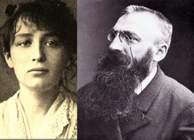 Auguste Rodin y Camille Claudel.