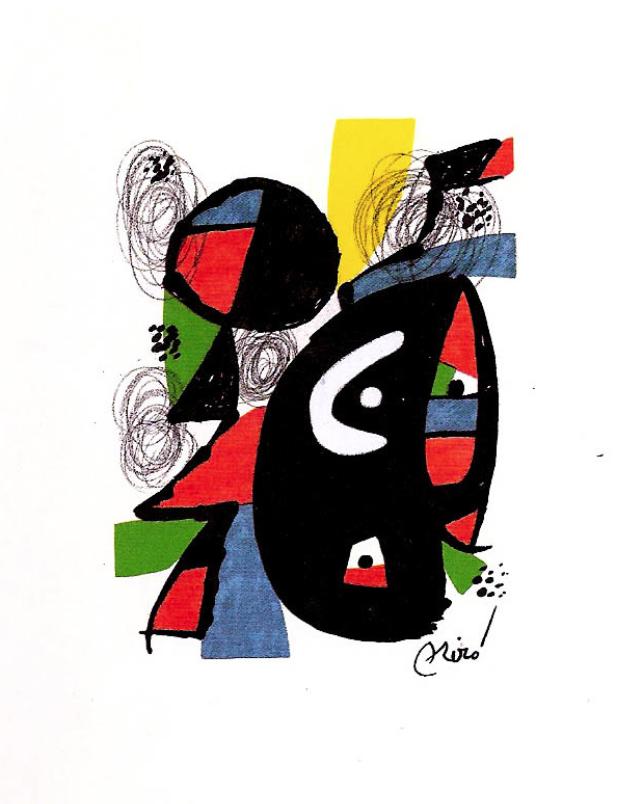 Joan Miró LA MELODÍA ÁCIDA (XII) 1223, 1980