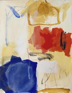 Qui, acrílico y óleo sobre papel 65 x 50 cm 2016