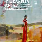 Flecha en el Centro Comercial Artea de Bilbao Feria de arte