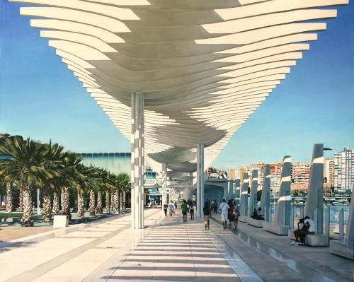 Paseo de Málaga |Pintura de Javier Ramos Julián | Compra arte en Flecha.es