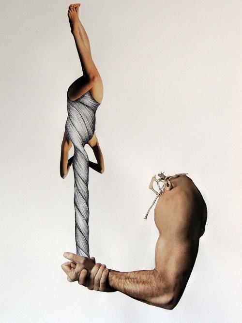No te Muevas |Collage de Merche Chia | Compra arte en Flecha.es