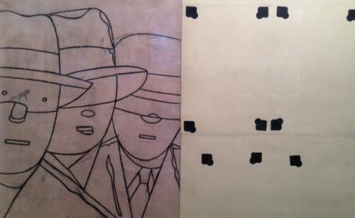 Brelan |Dibujo de Eduardo Arroyo | Compra arte en Flecha.es