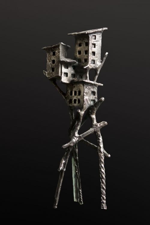 Aldea Aérea III |Escultura de Fernando Suárez | Compra arte en Flecha.es