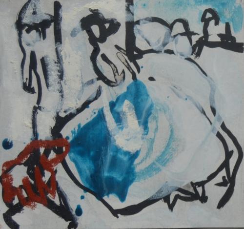El Señor y la Señora Andrews (cartón VI) |Pintura de Celia Muñoz | Compra arte en Flecha.es