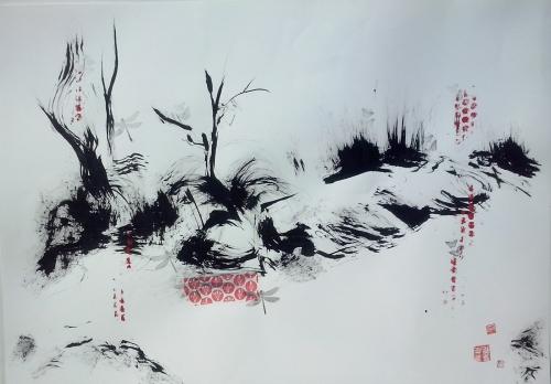 Al Caer la Tarde |Pintura de Martmina | Compra arte en Flecha.es