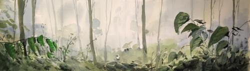 Bosque de Bangladesh |Pintura de Iñigo Lizarraga | Compra arte en Flecha.es