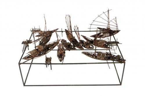 Mercado fluvial |Escultura de Fernando Suárez | Compra arte en Flecha.es