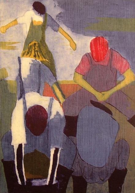 Los pescadores III |Obra gráfica de Jenifer Elisabeth Carey | Compra arte en Flecha.es