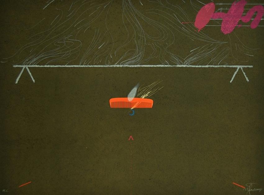 Entrebancs-3  Obra gráfica de Joan Pere Viladecans   Compra arte en Flecha.es