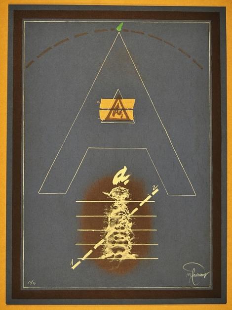 """A"" |Obra gráfica de Joan Pere Viladecans | Compra arte en Flecha.es"