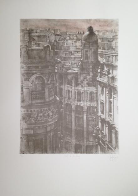 Hotel de Las Letras. Ed. Avant la lettre |Obra gráfica de Luis Javier Gayá | Compra arte en Flecha.es