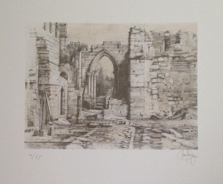Monasterio de San Pelayo (III) |Obra gráfica de Luis Javier Gayá | Compra arte en Flecha.es