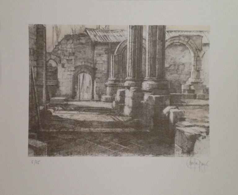Monasterio de San Pelayo (II) |Obra gráfica de Luis Javier Gayá | Compra arte en Flecha.es