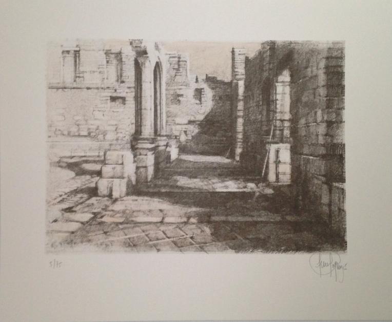 Monasterio de San Pelayo (V) |Obra gráfica de Luis Javier Gayá | Compra arte en Flecha.es