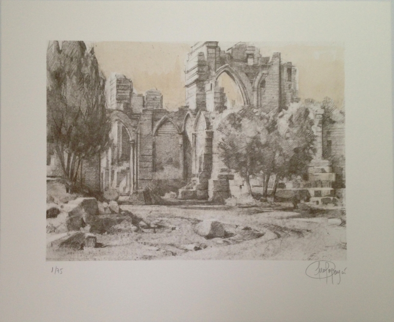 Monasterio de San Pelayo (VI) |Obra gráfica de Luis Javier Gayá | Compra arte en Flecha.es