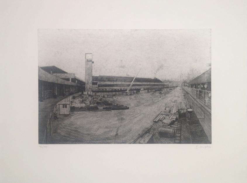 Atocha renacida |Obra gráfica de Carlos Gonçalves | Compra arte en Flecha.es