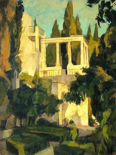 Jardines de la Fundación Rodríguez Acosta |Pintura de Jorge Pedraza | Compra arte en Flecha.es