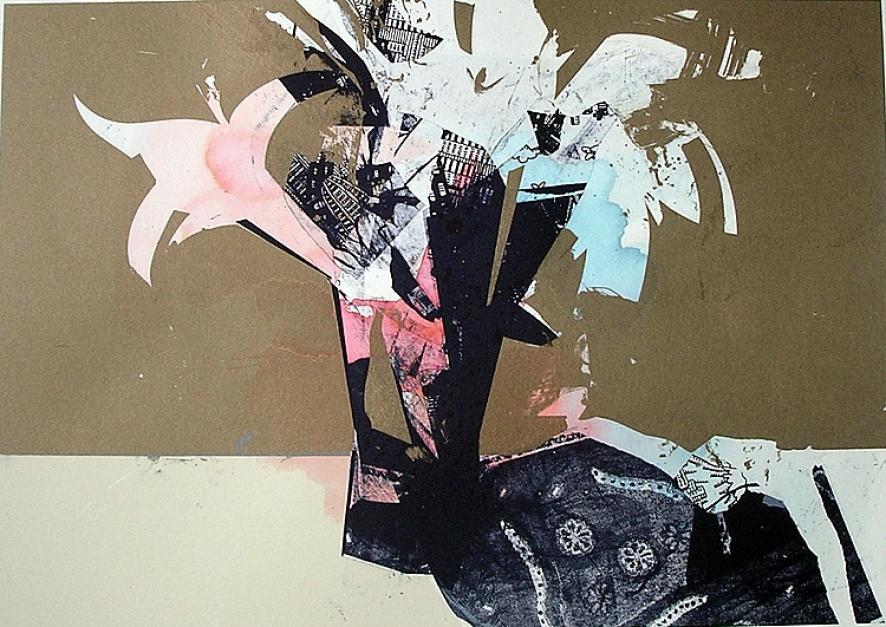 Bodegón con flores (homenaje a Bellver) |Obra gráfica de Francisco Molina | Compra arte en Flecha.es
