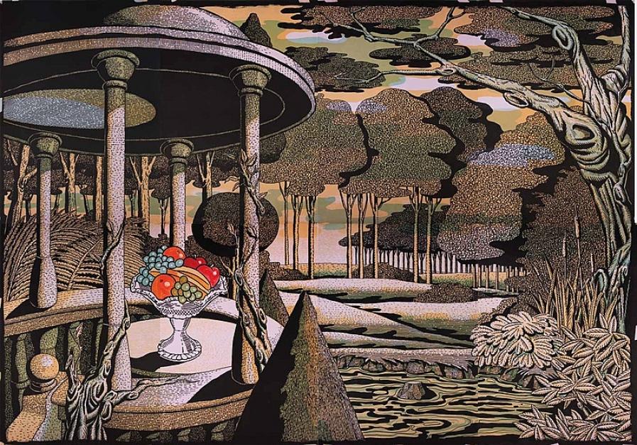 Jardín Inglés |Obra gráfica de Fernando Bellver | Compra arte en Flecha.es
