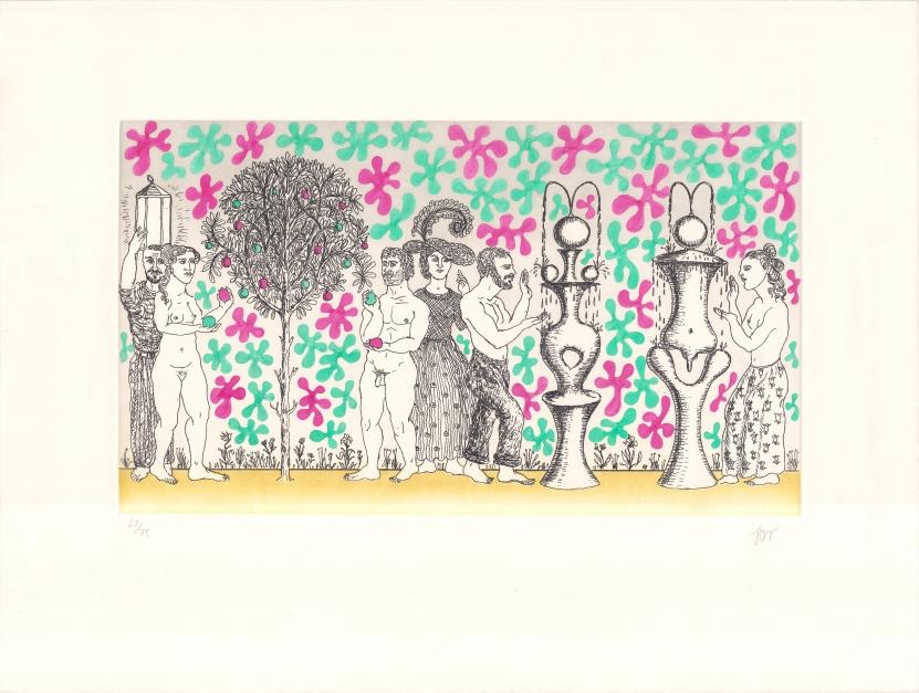El jardín de la dualidad |Obra gráfica de Guillermo Pérez Villalta | Compra arte en Flecha.es