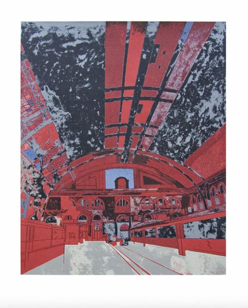 Estación de Francia (versión 1) |Obra gráfica de Jorge Castillo | Compra arte en Flecha.es