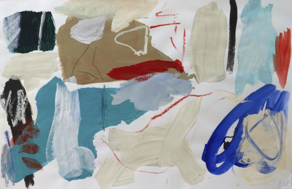 Tocado azul |Pintura de Eduardo Vega de Seoane | Compra arte en Flecha.es