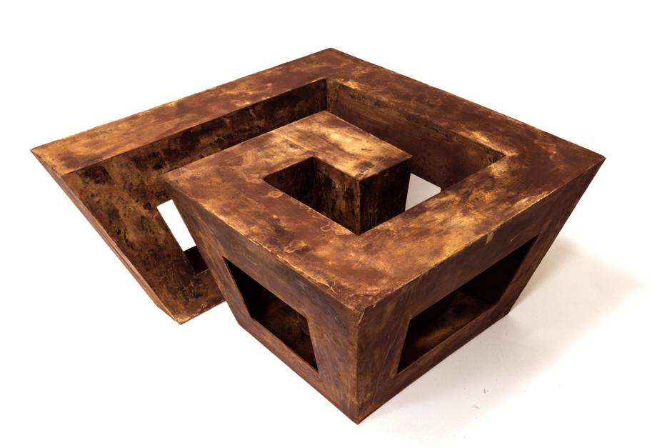 habita espiral  Escultura de Carlos I.Faura   Compra arte en Flecha.es