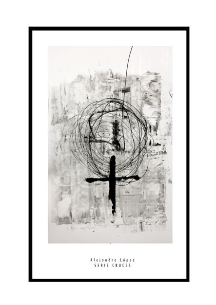 Cruz |Obra gráfica de Alejandro Lopez | Compra arte en Flecha.es