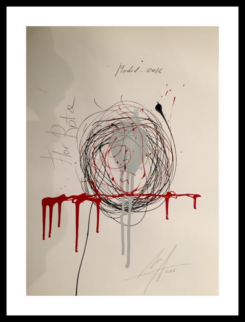 Flor rota |Obra gráfica de Alejandro Lopez | Compra arte en Flecha.es