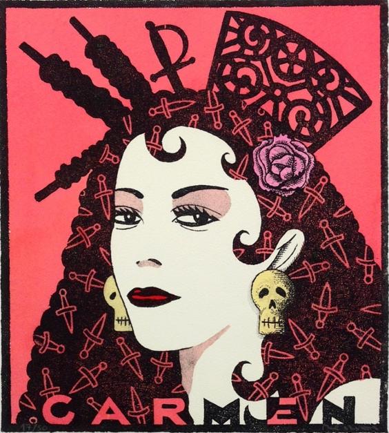 Serie: Diosas de la ópera: Carmen |Obra gráfica de Fernando Bellver | Compra arte en Flecha.es