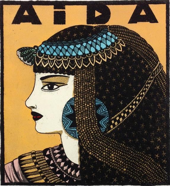 Serie: Diosas de la ópera: Aída  Obra gráfica de Fernando Bellver   Compra arte en Flecha.es