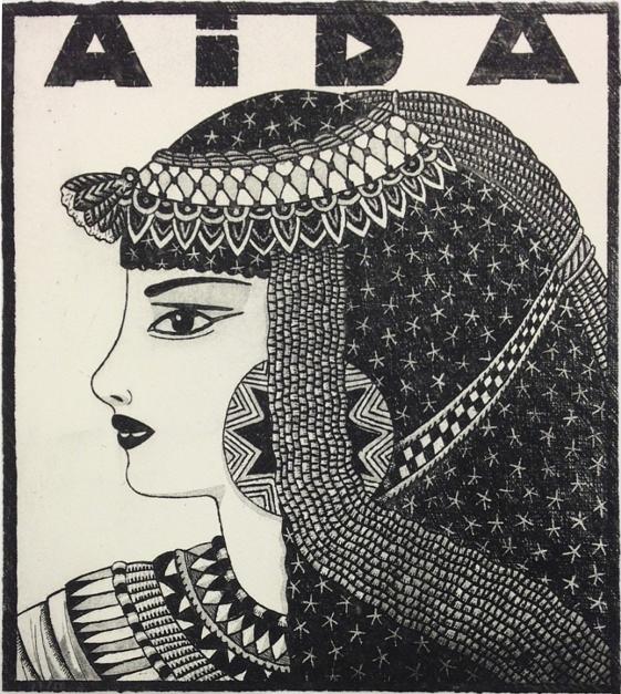Serie: Diosas de la ópera: Aída b/n |Obra gráfica de Fernando Bellver | Compra arte en Flecha.es