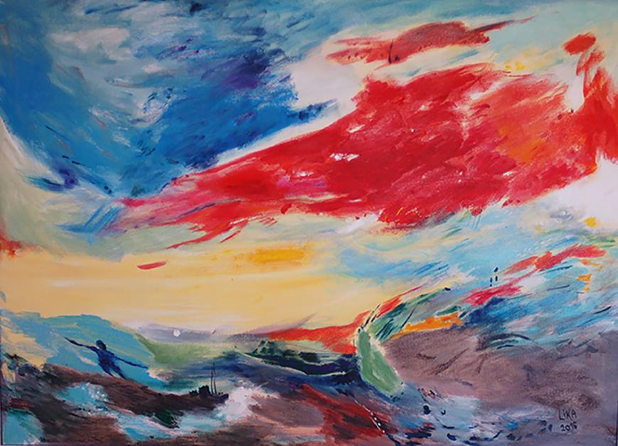 Mar Egeo |Pintura de Lika Shkhvatsabaia | Compra arte en Flecha.es