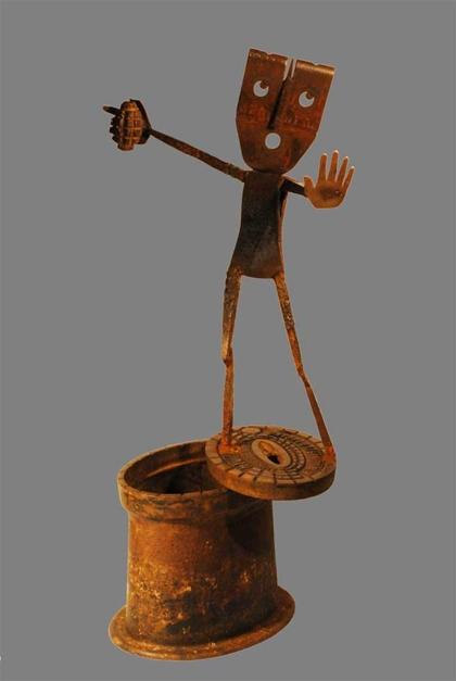 FACE A LA CRISE  Escultura de Gerardo de Pablo   Compra arte en Flecha.es