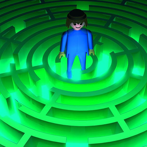 En el laberinto |Digital de Emilio León | Compra arte en Flecha.es