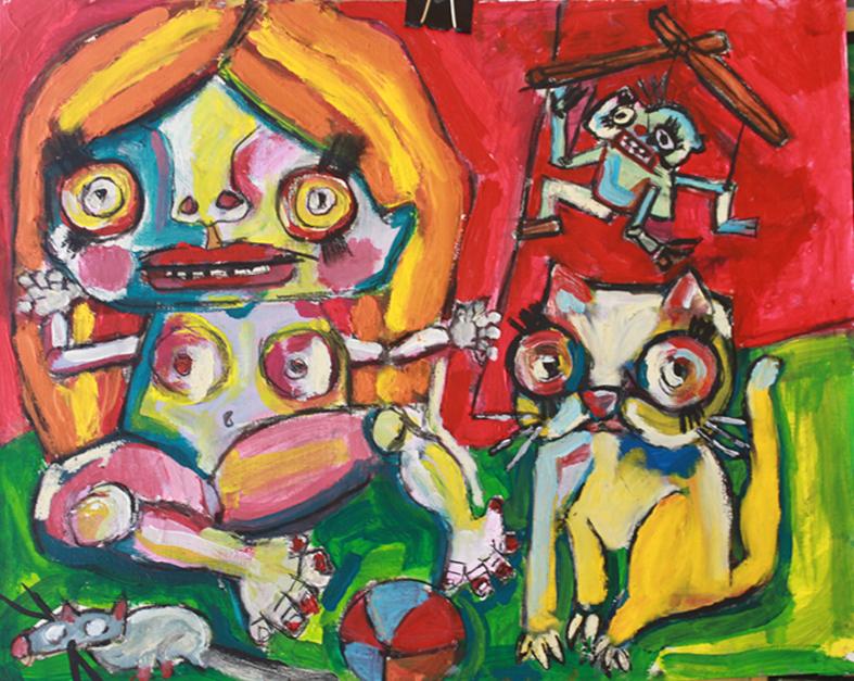 toy dolls |Pintura de Veo blasco | Compra arte en Flecha.es