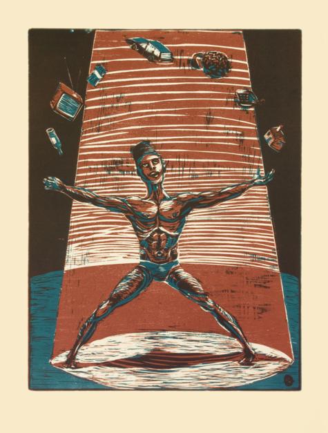 MAL-A-BARES |Obra gráfica de Jaelius Aguirre | Compra arte en Flecha.es