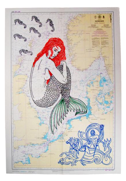 Carta Naútica |Dibujo de Juanjo Castillo | Compra arte en Flecha.es