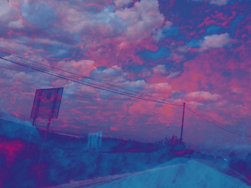 Carretera azul |Digital de Fuensanta Niñirola | Compra arte en Flecha.es