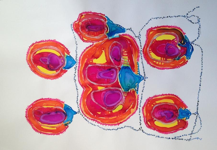 flores de loto |Obra gráfica de Mila Domenech | Compra arte en Flecha.es