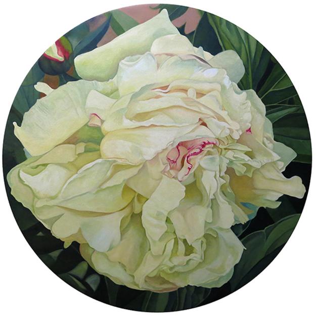 """""""Peonía circular""""  Pintura de Carmen Varela   Compra arte en Flecha.es"""