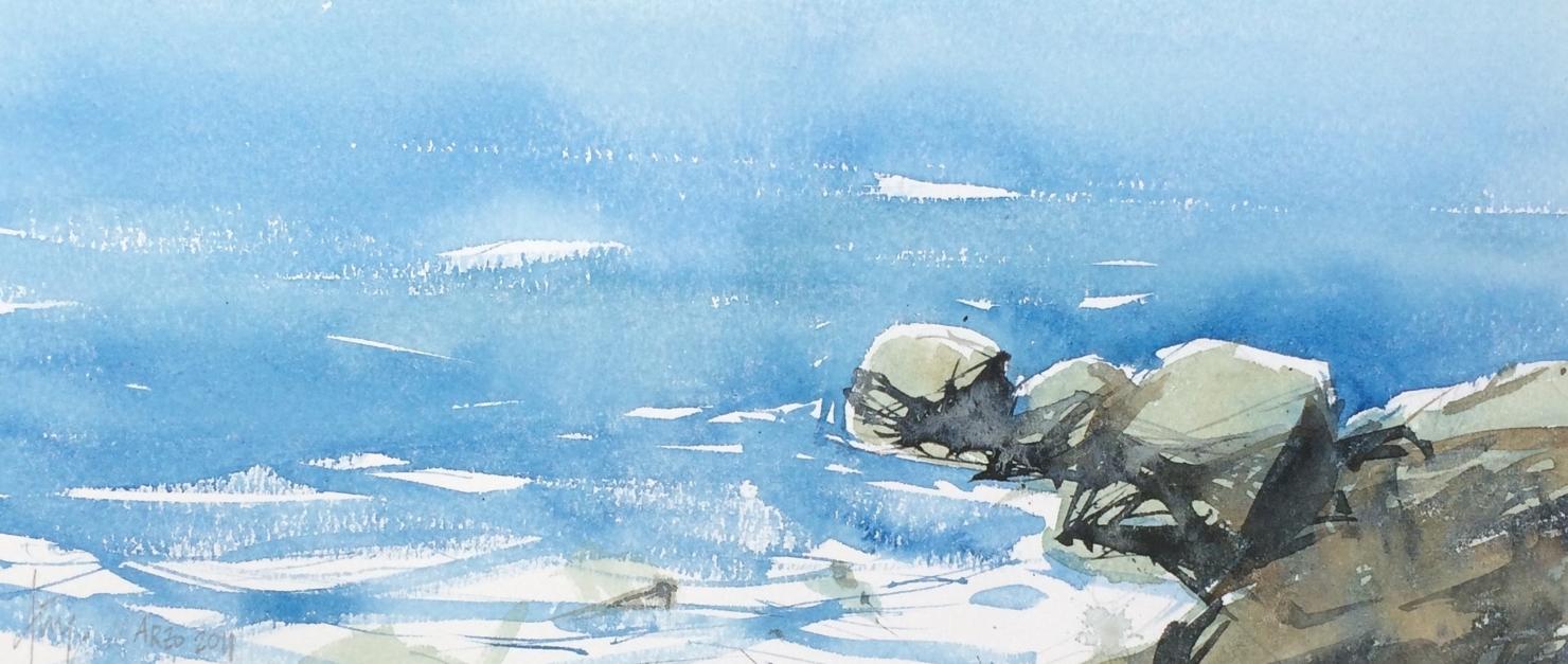 Rocas |Pintura de Iñigo Lizarraga | Compra arte en Flecha.es