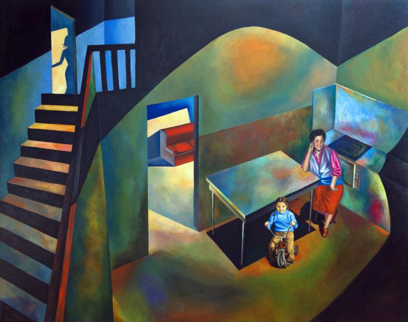Casa de la infancia |Pintura de Fernando Charro | Compra arte en Flecha.es
