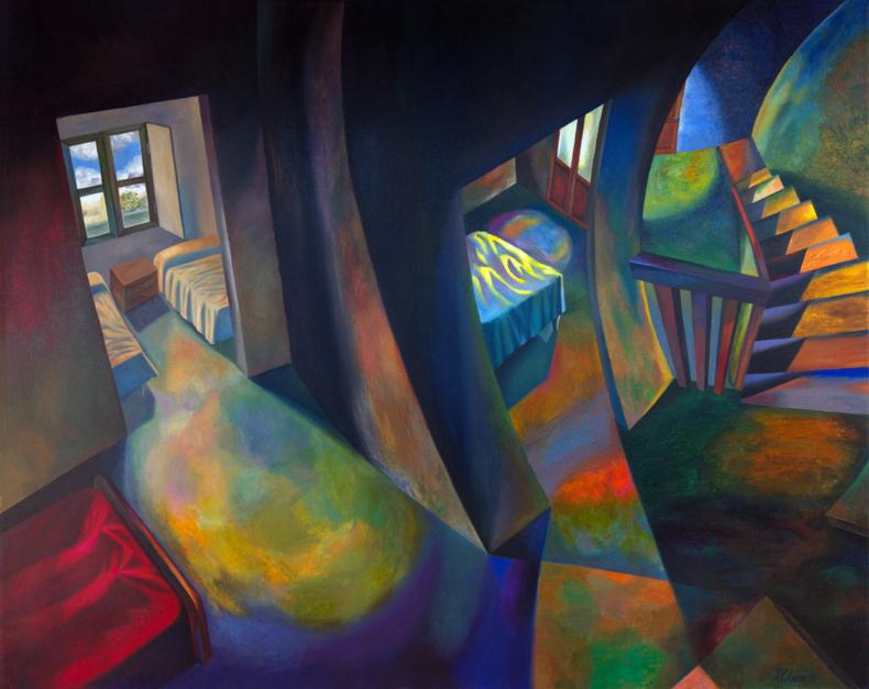 Casa de la infancia 2 |Pintura de Fernando Charro | Compra arte en Flecha.es