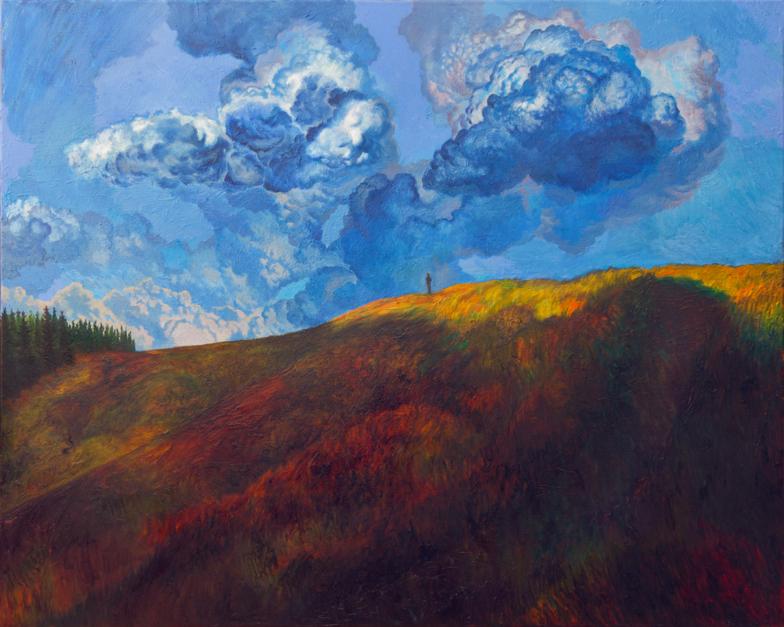 Nubes azules |Pintura de Fernando Charro | Compra arte en Flecha.es