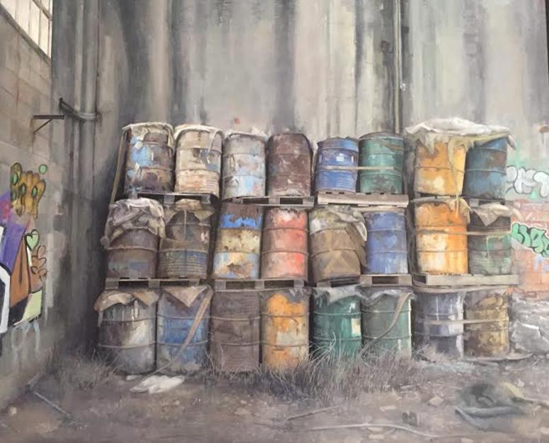 Bidones |Pintura de Rodríguez Lobo | Compra arte en Flecha.es