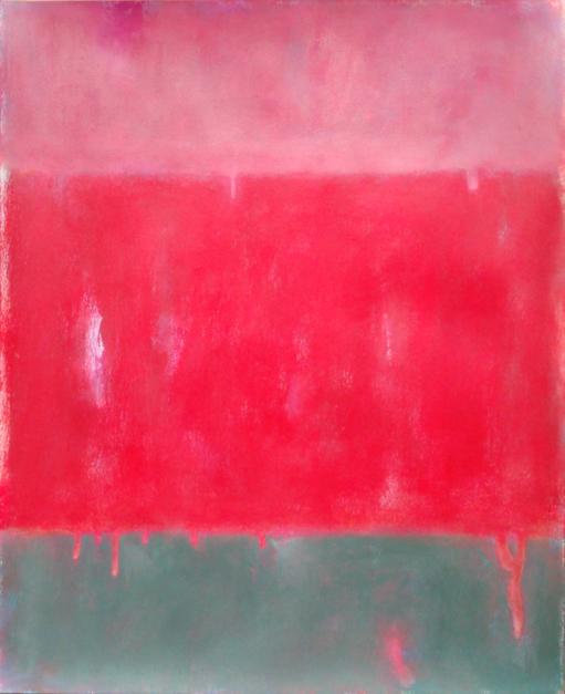 Red field III |Pintura de Luis Medina | Compra arte en Flecha.es