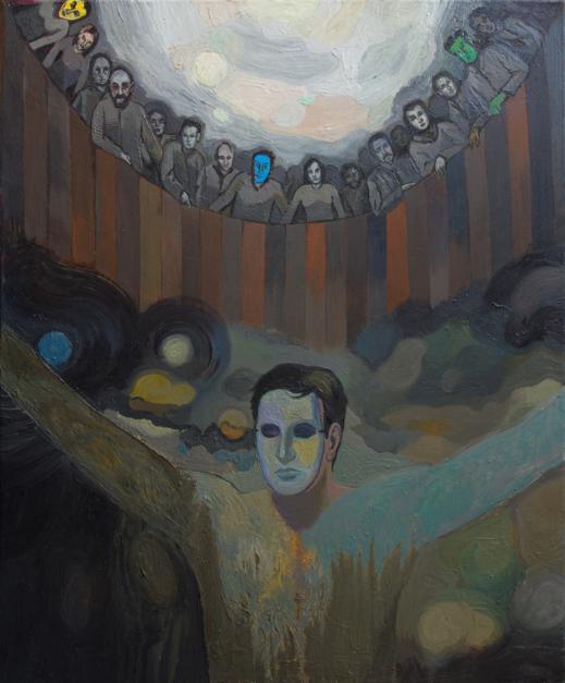 El hombre de la máscara |Pintura de Fernando Charro | Compra arte en Flecha.es